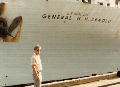On dock at Pearl Harbor in Oct 1980